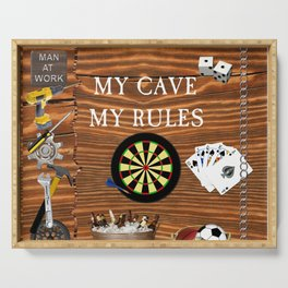 Man Cave Serving Tray