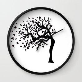 Tree Birds x2 Wall Clock