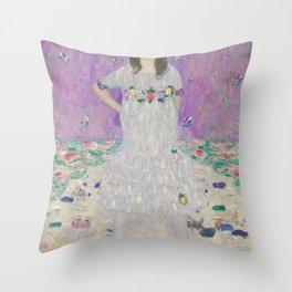 Mäda Primavesi- Gustav Klimt Throw Pillow