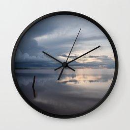 Lake Tyrrell at Sunset Wall Clock