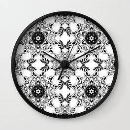 Monochrome, black and white pattern. Wall Clock