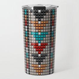 Stitched colorful aztec motif pattern Travel Mug