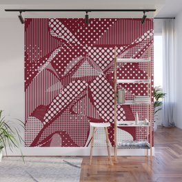 Doodle Fun 06,red Wall Mural