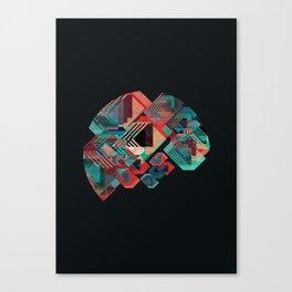 Circle Stacks Canvas Print