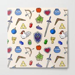 Zelda pattern Metal Print