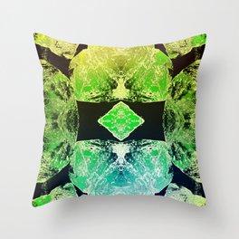 Green Mandala-Heart Chakra Throw Pillow