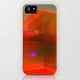 red glass and a lilac reflection iPhone Case