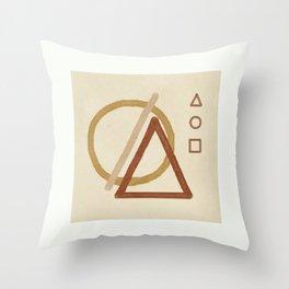 Minimal Geometric Shapes II Throw Pillow