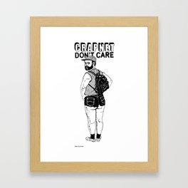 CRAPNET Don't Care - Hot Pants. Framed Art Print