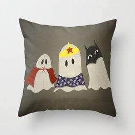 Ghost Cosplay Throw Pillow