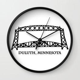 Duluth, MN Aerial Lift Bridge Wall Clock