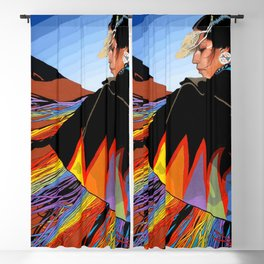 Shawl Dancer Blackout Curtain