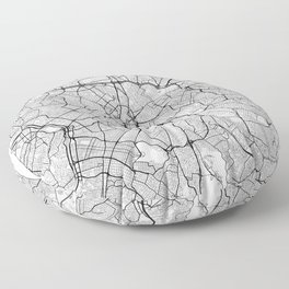 Sao Paulo Map White Floor Pillow