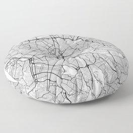 Sao Paulo Map White Floor Pillow