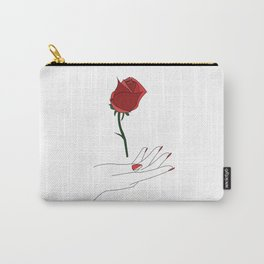 rose in hand Carry-All Pouch