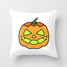 Halloween angry pumpkin Throw Pillow
