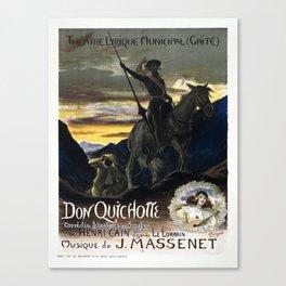 Vintage poster - Don Quichotte Canvas Print