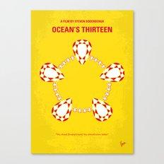 No706 My Oceans 13 minimal movie poster Canvas Print