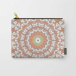 Sun Kissed Apricot Mandala Design Carry-All Pouch