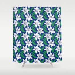 Japanese Floral Pattern 02 Shower Curtain