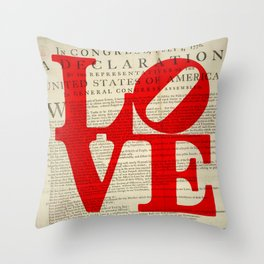 Declare the Love in Philly Throw Pillow