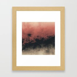 Zero Visibility Dust Framed Art Print