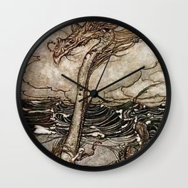 """Sea Serpent"" by Arthur Rackham Wall Clock"