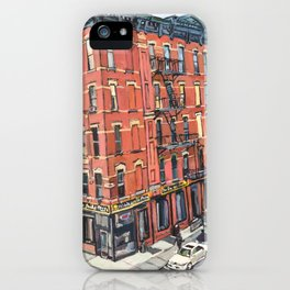 View of 17th Street From the High Line iPhone Case