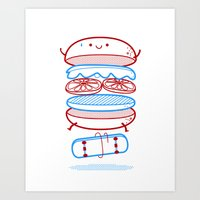 street Art Prints featuring Street burger  by SpazioC