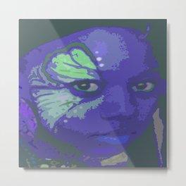 Indie Blue Metal Print