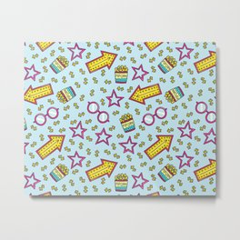 Popcorn Shower Metal Print