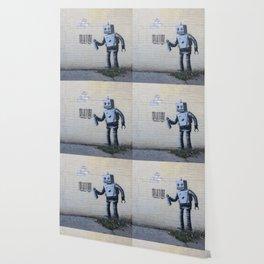 Banksy Robot (Coney Island, NYC) Wallpaper