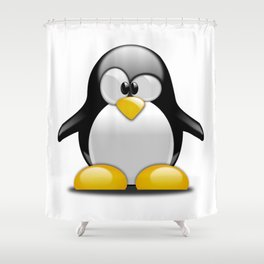 Cute Baby Penguin Shower Curtain