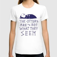 otters T-shirts featuring You Otter Know by MidnightCoffee
