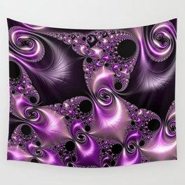 Silken Purple Swirling Fractal Wall Tapestry