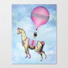 Flying Llama Canvas Print