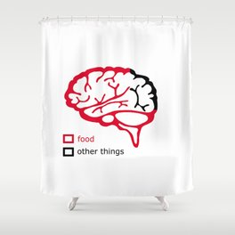Food and brain Shower Curtain