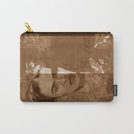 Frida Kahlo - between worlds - sepia Carry-All Pouch
