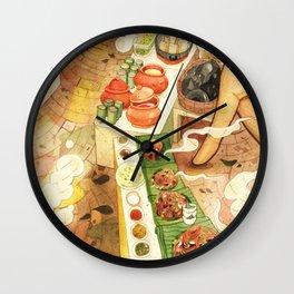 Thai street food, Chiangmai Thailand Wall Clock