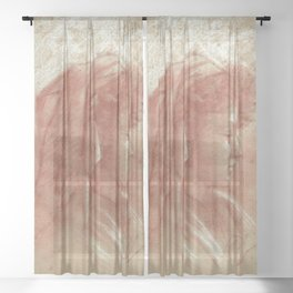 Portrait of a young girl (2) Sheer Curtain