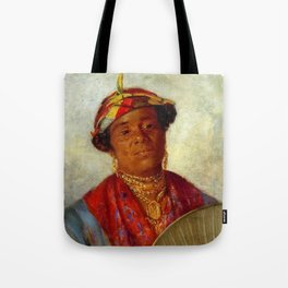 African American Masterpiece 'Woman with Gold Necklaces' by Helen Watson Phelps Tote Bag