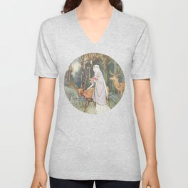 dun deer Unisex V-Neck