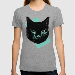 Black Cat, Color Block Green T-shirt