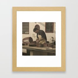 Meat Market Framed Art Print