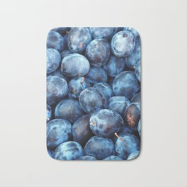 Blue Plums Fruit pattern Bath Mat