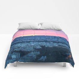 Paris City Sunset Comforters