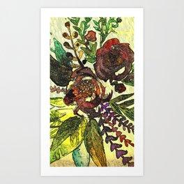 Art Nuovo Flowers Art Print