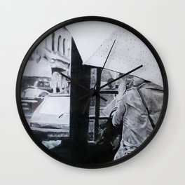"""""""In The City"""" Wall Clock"""