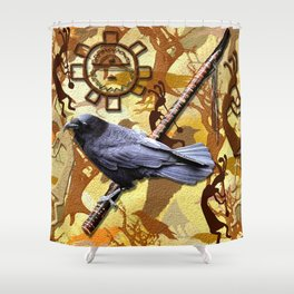 Kokopelli Raven - A Tribute to Music-lovers Shower Curtain