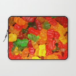 red orange yellow colorful gummy bear Laptop Sleeve